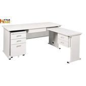《時尚屋》150cm 灰色THA辦公桌櫃組(L型)