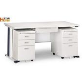 《時尚屋》150cm 灰色KH辦公桌櫃組