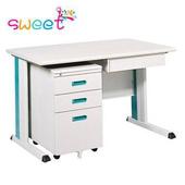 《SWEET》120cm 灰色KD辦公桌櫃組
