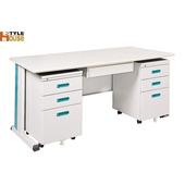 《時尚屋》150cm 灰色KD辦公桌櫃組