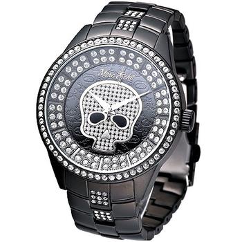 MARC ECKO 龐克精靈時尚晶鑽錶 IP黑 E20049G1