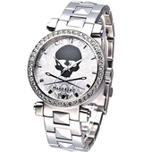 《MARC ECKO》龐克戰士骷髏圖騰晶鑽腕錶E15083M1