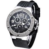 《MARC ECKO》極速魅力3眼計時晶鑽腕錶E14532G1