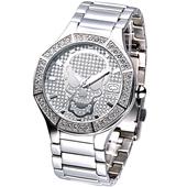 《MARC ECKO》神鬼戰士骷髏圖騰晶鑽腕錶E11544G1
