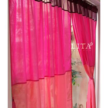 LITA 暮色-桃。DIY穿桿式窗簾-M簾(寬130*長150 cm)