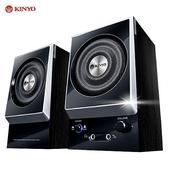 《KINYO》『剛毅』二件式耳麥全木質防磁擴大音箱(KY-1007)