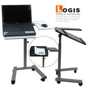《Design》角度&雙檯面便利筆電桌(白)