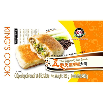 金品 五更天黑胡椒大餅(110g/片?3片/盒(每盒330克))