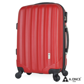 A.ONCE 28吋閃耀之星ABS磨砂輕量行李箱/旅行箱(鋼鐵紅)