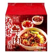 《味王》經典小館椒麻牛肉湯麵(91g*4包/組)