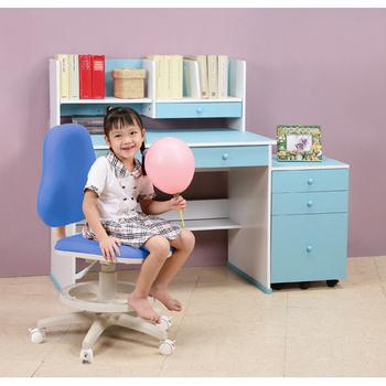 C&B 快樂學習機能型成長書桌椅三件組(王子藍)