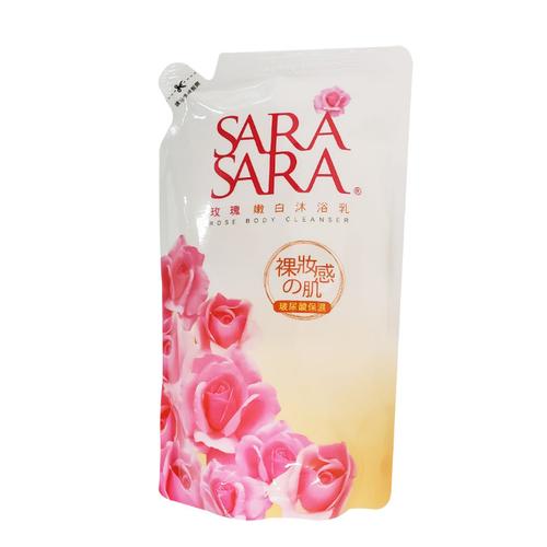 SARA SARA 莎啦莎啦玫瑰嫩白沐浴乳補充包(800g/包)