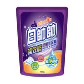 《白帥帥》超效能抗菌洗衣精補充包(1650g/包)