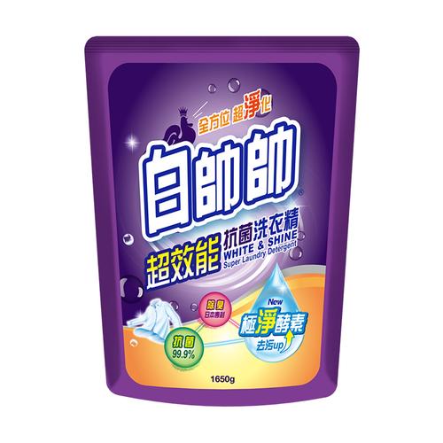 白帥帥 超效能抗菌洗衣精補充包(1650g/包)