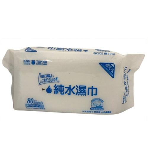 《康乃馨》純水濕巾超厚補充包(80片/包)