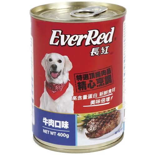 《長紅》犬罐-牛肉口味(400g/罐)