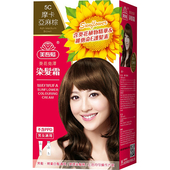 《美吾髮》葵花亮澤染髮霜-5C號 摩卡亞麻棕(40g+60g/盒)