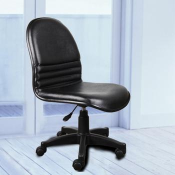 《BuyJM》氣壓升降皮面辦公椅(黑)