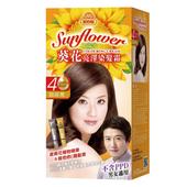 《美吾髮》葵花亮澤染髮霜-4號 咖啡黑(40g+40g/盒)