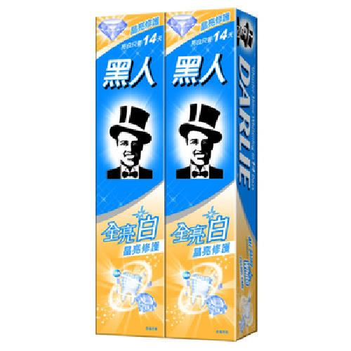 黑人 全亮白晶亮修護牙膏(140gx2支/組)