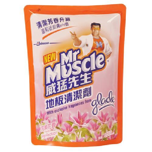 《威猛先生》地板清潔劑補充包-完美花香(1800ml/包)