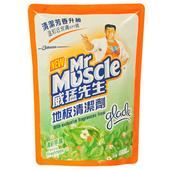 《威猛先生》地板清潔劑補充包-清新早晨(1800ml/包)