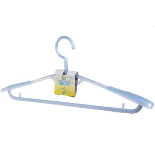 FP 塑膠珠光伸縮衣架-粉藍(1支)