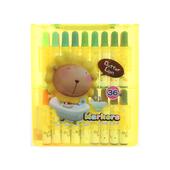《雄獅》奶油獅36色塑盒彩色筆(外盒顏色隨機)