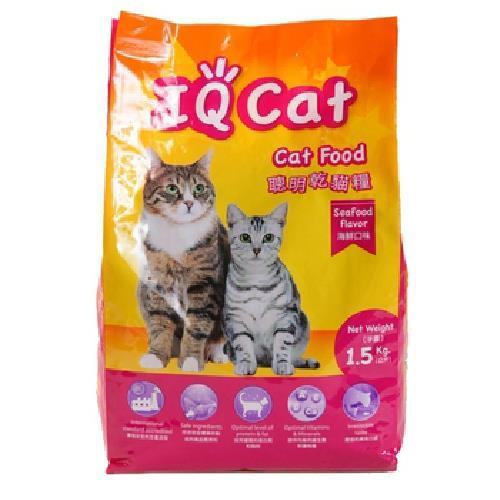 《IQ Cat》聰明貓糧--海鮮口味(1.5kg)