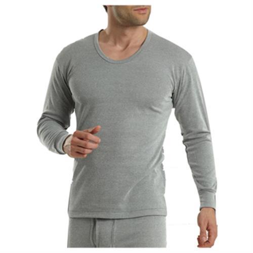 Pierre Cardin 皮爾卡登竹炭纖維U領長袖衫-PS1660(灰條-L)