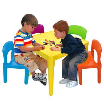 寶貝家 繽紛桌椅組(一桌四椅)~台灣生產喔