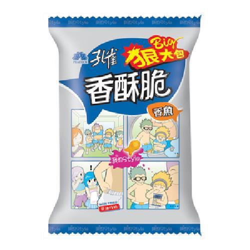 乖乖 孔雀香酥脆-香魚狠大包(104g/包)