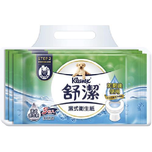 舒潔 濕式衛生紙家庭號(40抽*3包/串)