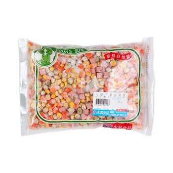 永昇 冷凍火腿丁混合蔬菜(500g/包)