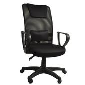 《凱堡》科博文高背透氣仰傾電腦椅(品味黑)