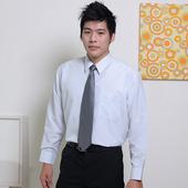 《JIA HUEI》長袖男仕吸濕排汗防皺襯衫 3158系列 條紋灰(15.5)