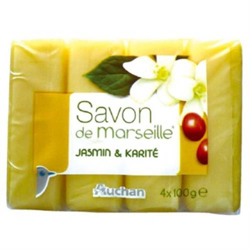 Auchan 馬賽香皂-乳油木果油(100gx4個/組)