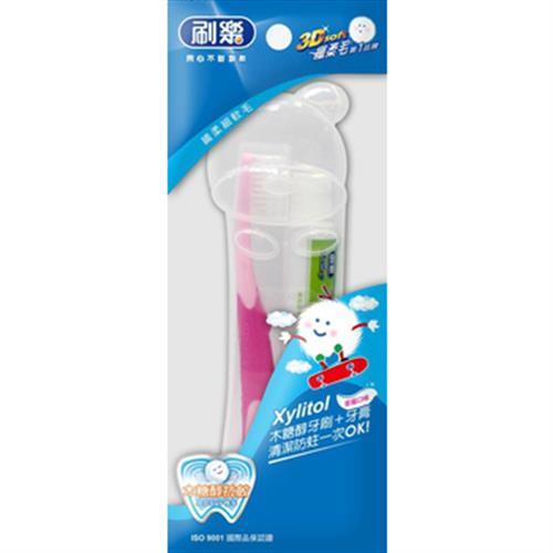 刷樂 兒童潔牙組(牙刷+牙膏/組)