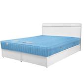 《Homelike》麗緻5尺雙人床組(床台+床頭片)(純白色)
