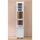 《C&B》加高型廚房隙縫電器櫃(白色)