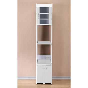 ★結帳現折★C&B 加高型廚房隙縫電器櫃(白色)