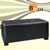 《BuyJM》法蘿長方床尾椅(長95公分)(黑色)