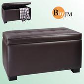 《BuyJM》卡洛特長掀蓋收納椅(咖啡色)