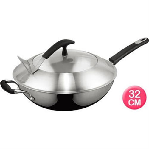 ASD愛仕達 二代多層鋼炒鍋-單把(32cm)