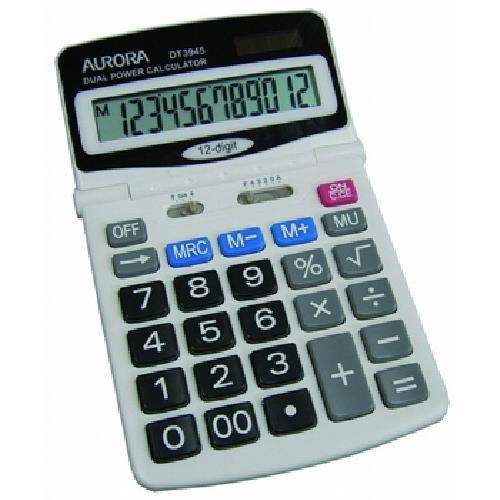 震旦AURORA 桌上型12位數計算機 DT3945 / DT3940(雙電源)
