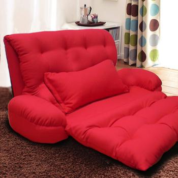 KOTAS 凱特單人大型扶手沙發床/椅送抱枕(熱戀紅)