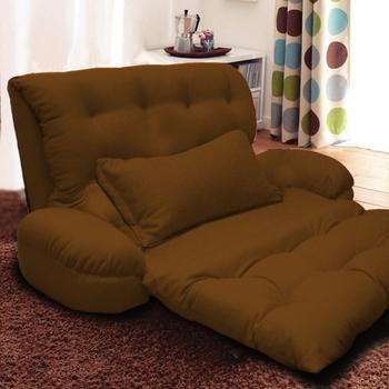 KOTAS 凱特單人大型扶手沙發床/椅送抱枕(質感咖)