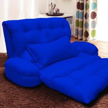 KOTAS 凱特單人大型扶手沙發床/椅送抱枕(寶石藍)