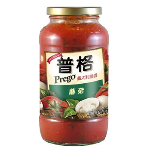 美國Prego 義大利麵醬-蘑菇(680g/瓶)