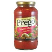 《美國Prego》義大利麵醬-蕃茄羅勒大蒜(680g/瓶)